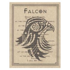Falcon Prayer Poster