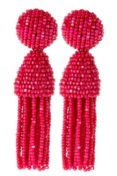 Beaded Oscar de la Renta tassel earrings add a fun, bright element to every ensemble - from shorts and a tee to an LBD