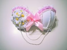 pink and lavender daisy bra.