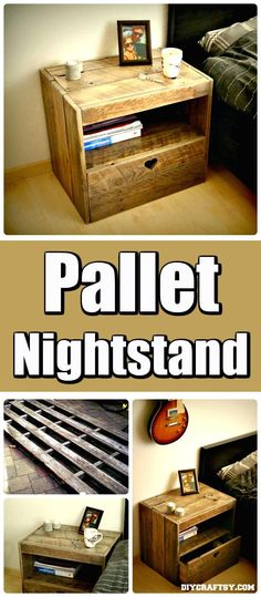 Repurposed Pallet Nightstand - 150 Best DIY Pallet Projects and Pallet Furniture Crafts - Page 7 of 75 - DIY & Crafts