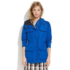 Madewell - Penfield Kasson Parka in Cobalt  $185.00  Item# 33245     Massachusetts-based Penfield has been churning out top-notch, weather-resistant outerwear—coveted by fans of heritage-style clothing and outdoor enthusiasts alike—since 1975. This superwarm checkerboard plaid-lined parka is perfect for woodsy walks (and urban strolls too).  Loose fit. Cotton/nylon. Dry clean. Import.