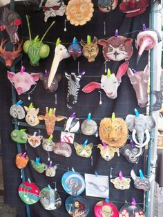 These amazing animal masks have been handmade using Wasara plates & bowls Paper Animals, Animal Masks, Japanese Paper, Plates And Bowls, November, Goodies, Hand Painted, Party, Tokyo
