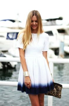 Cute ombre dress - Casual work outfit #womensfashion #outfits #casualoutfit