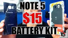 GALAXY NOTE 5 Battery Replacement FAILURE | $15 Battery Kit - YouTube Samsung 15, Computer Tips, Galaxy Note 5, Kit, Youtube, Youtubers, Youtube Movies