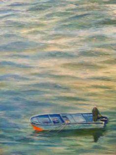 "Shek O Bleu (Hong Kong), 30X40"", 2015, Oil on Canvas"