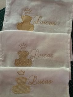 Babinhas +fraldas de boca+toalhas de boca