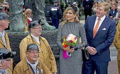 ♥•✿•QueenMaxima•✿•♥... October 8, 2015...Queen Maxima and King Willem-Alexander visit mine region Limburg