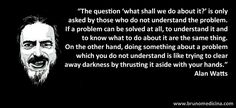Are you sure you understand the problem? Truth And Lies, Alan Watts, You Sure, Darkness, Einstein, Something To Do, Hands, Thoughts, This Or That Questions