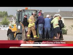 A front end loader was being used to rescue people from the rising flood waters of the Highwood River in High River, Alberta on June - can really see the good in humanitay in times of tragedy, Images Of Flood, Trans Canada Highway, Kindness Of Strangers, Emergency Responder, Rescue Vehicles, Weather And Climate, Extreme Weather, Armed Forces, Calgary