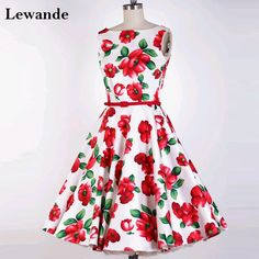 Sweet 16 A-line Floral Print Girls Prom Homecoming Dress Short Sleeveless Flowers Pattern Red Carpet Pageant Gown Satin Lewande