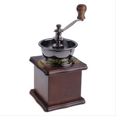 Manual Coffee Mill Wood Antique Bowl Coffee Bean Herb Hand Mill Spice Grinder