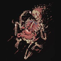 Upper Playground - Human Explosion T-Shirt by Nychos