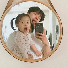 Father And Baby, Dad Baby, First Baby, Mom And Baby, Baby Kids, Cute Asian Babies, Korean Babies, Asian Kids, Cute Babies