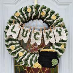 st patricks day wreath crochet