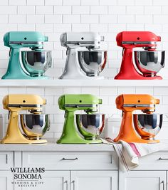 Which hue is for you? Create your registry with Williams Sonoma and add everything you need to cook like pro, like a classic KitchenAid stand mixer.