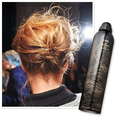 10 Way to Upgrade a Bun: Put all your hair up in a really soft, sexy way with dry shampoo and French hairpins. #oribe #hair #dry