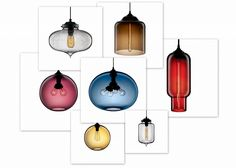 hand blown glass pendant lighting designs silver color funky kitchen pendant lights designs - Glass Pendant Lighting