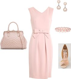 """pretty in pink"" by aidachick on Polyvore"