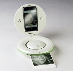 iBaby This design truly pushes the iPhone's capability to the next level! The Home Ultrasound Device aims to enhance the pregnancy experience directly from your phone. Connected to the iPhone, the device can capture ultrasound images of an unborn baby and allows rapid sharing with doctors, family members and friends within seconds over wifi or its built in printer. On top of all that, the device also doubles as a baby monitor after the little one comes home!