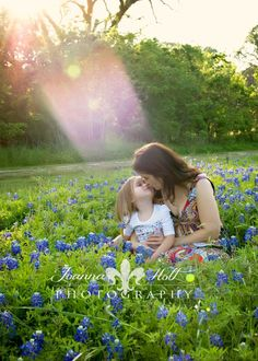 mother and daughter bluebonnet picture