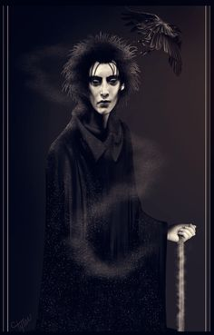 What a terrific version of Sandman. Maybe because he resembles Gaiman himself? #sandman #gaiman