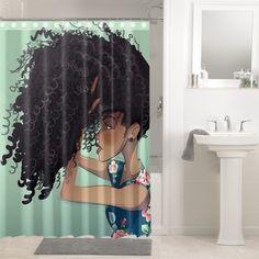 Useful Walk-in Shower Design Ideas For Smaller Bathrooms – Home Dcorz Modern Bathroom Decor, Bath Decor, Bathroom Ideas, Bedroom Decor, Afro Shower Curtain, Shower Curtains, Afro Hair Design, Walk In Shower Designs, Mosaic Diy