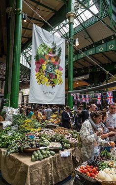 Borough Market, London, fascinating place with lots of great, fresh food.