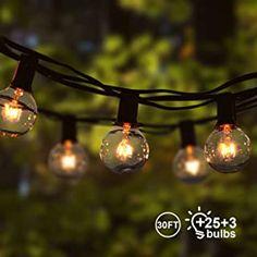 Lichterkette Außen Qomolo Lichterkette Glühbirnen Aussen G40 28er Birnen Garten Beleuchtung für Innen und Draußen mit Ersatzbirnen 9.5 Meter Warmweiß [Energieklasse A] - 20.99 - 4.5 von 5 Sternen - Lichterkette Herbst 2019
