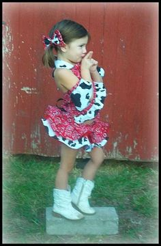 How cute is this?!!    Cowgirl Pageant Casual Wear / Pageant Cupcake by LilCoutureCutie, $45.00