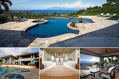 Meet the Maui 18th hole view. This property has not just views of sunset and the Outer Islands but the Plantation Golf Course at Kapalua, launch site for the PGA Tour each January. Location: Lahaina, Hawaii.  Price: 8.4 million dollars.  Bedrooms: 5.  Bathrooms: 6.  Square footage: 7,645. The property is being sold as furnished and it has plenty of covered terrace space blending the indoors with outdoors, as well as a glass-front wine cellar and automated lighting and sound systems.