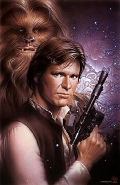 "Han & Chewbacca (from ""30 new amazing Star Wars illustrations) 