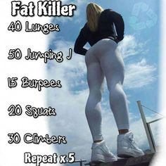 Fat Killer Workout - Fitness HIIT training plan for a healthy body Killer Workouts, Fun Workouts, Cross Fit Workouts, Circuit Workouts, Fitness Workouts, Cardio Hitt Workout, Hiit Training Plan, Cross Training Workouts, Wods Crossfit