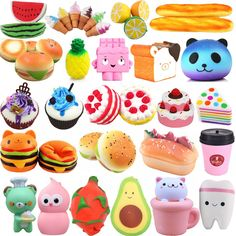 Jumbo Slow Rising Squishies Scented Charms Squishy Squeeze Toy Collection Lot