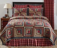 Huge selection of primitive country style quilts, throws, braided & hooked rugs, lighting, shower curtains, window treatments, country kitchen & Americana.