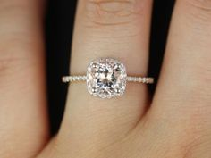 Original Version 14kt Rose Gold Thin Morganite by RosadosBox, $850.00 like that it doesnt stand too tall on the finger