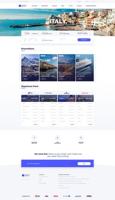 Krantas travel booking UI Homepage - New Site Travel Agency Website, Travel Website Design, Website Design Layout, Travel Design, Web Layout, Layout Design, Intranet Design, Web Ui Design, Website Design Inspiration
