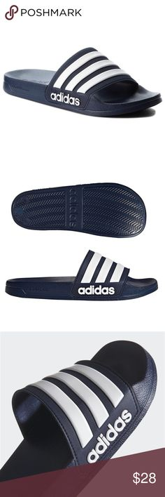 Adidas Men s Adilette Shower Slider Sandal Adidas Men s Adilette Shower  Slider Shoe Sandal - Ideal for the pool deck or shower - Cloud Foam Footbed  - for a ... f23334857