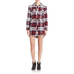 Rails Nadine Plaid Shirtdress ($155) ❤ liked on Polyvore featuring dresses, apparel & accessories, tie dress, plaid dress, long plaid shirt dress, tartan shirt dress and shirt dress