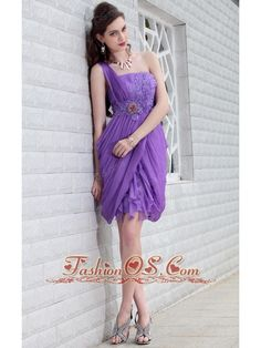 In Stock Gorgoeous Tencel Chiffon One Shoulder Neckline Short Prom Dress With Beads Nude Prom Dresses, Cheap Short Prom Dresses, Princess Prom Dresses, Strapless Prom Dresses, Unique Prom Dresses, Prom Dresses For Sale, Beautiful Prom Dresses, Homecoming Dresses, Dresses 2013