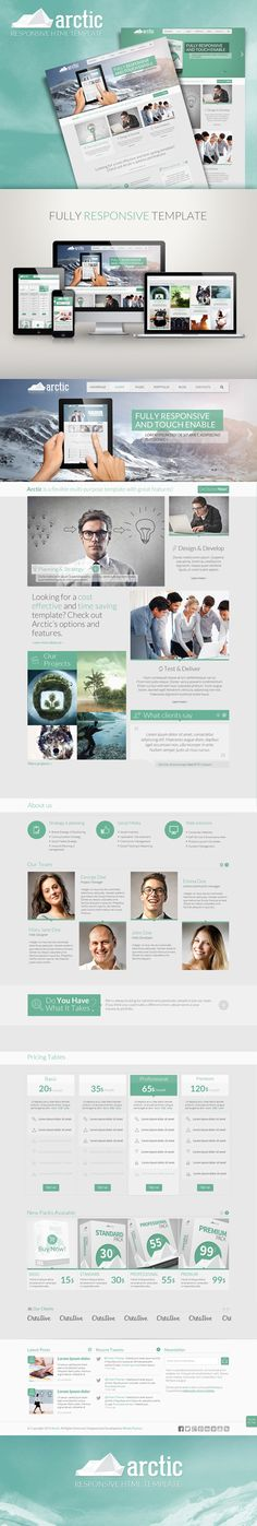 Arctic - Responsive HTML Template by Wisely Themes #Website #Responsive #Template #Arctic #Ui