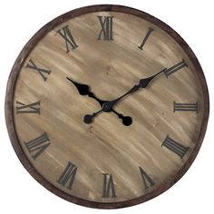Buy the Sterling Industries undefined undefined Direct. Shop for the Sterling Industries undefined undefined Height Wooden Roman Numeral Outdoor Wall Clock and save. Outdoor Wall Clocks, Tabletop Clocks, Outdoor Walls, Sterling Brown, Arrow, Sterling Homes, Distressed Wood Wall, Bronze Highlights, Roman Numerals