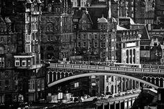 the North Bridge in Edinburgh.