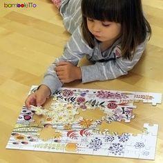 Puzzle flowers Bamboletto