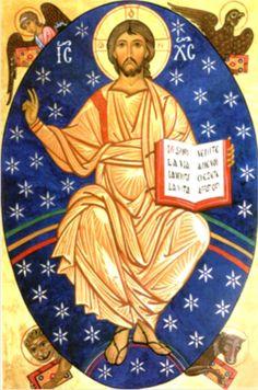 """A partir de agora, Cristo está sentado à direita do Pai: """"Por direita do Pai entendemos a glória e a honra da divindade, onde aquele que existia como Filho de Deus antes de todos os séculos c…"""