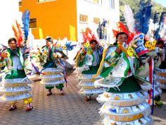 Preliminares del desfile en la Fiesta de la Candelaria - Bolivia - 2 de Febrero de 2010