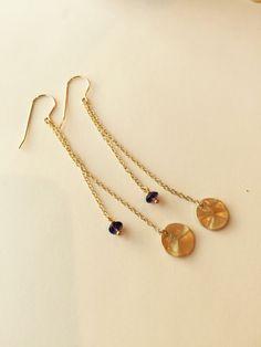 Amethyst Earrings Gemstone Earrings Purple by BabyLovesBlue