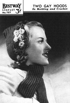 Vintage Ladies Pixie Cap in Two Styles Knitting by LittleJohn2003