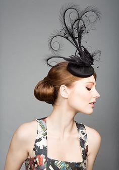 Rachel Trevor Morgan Millinery S/S Feather black bird pillbox Rachel Trevor Morgan, Millinery Hats, Cocktail Hat, Kentucky Derby Hats, Wearing A Hat, Love Hat, Hats For Women, Ladies Hats, Headgear