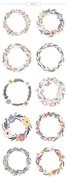 Floral mega-bundle: 1267 elements - Illustrations - 12