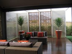 Warm colour scheme for the outdoor area.   Get Inspired by photos of Outdoor Living from Australian Designers & Trade Professionals - Home Improvement Pages